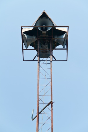 emit: two pair on tall speaker post