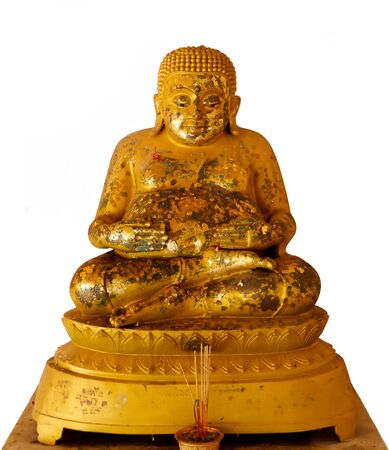 Isolate image of gold  Buddhist saint