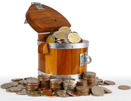 Monetary Bath silver coin overflow in the bark
