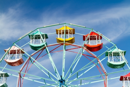 Colorful ferris and beauty sky background Stock Photo