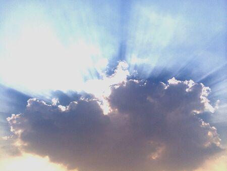 Sunlight behind cloud