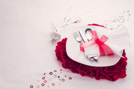 liefde Valentijnsdag eetservies