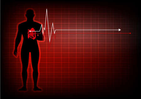 People with heart disease abstract background
