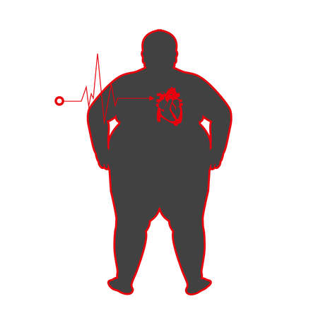 fat people with heart disease