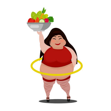 Happy and excited real woman with fresh vegetables