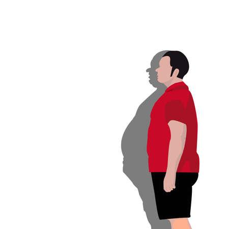 successful diet, cartoon background
