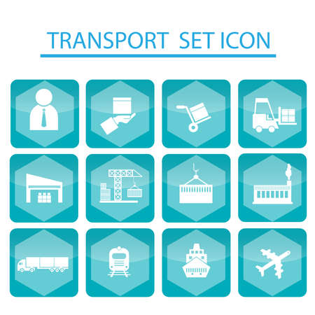 pier: Set logistics icons, shipping icons