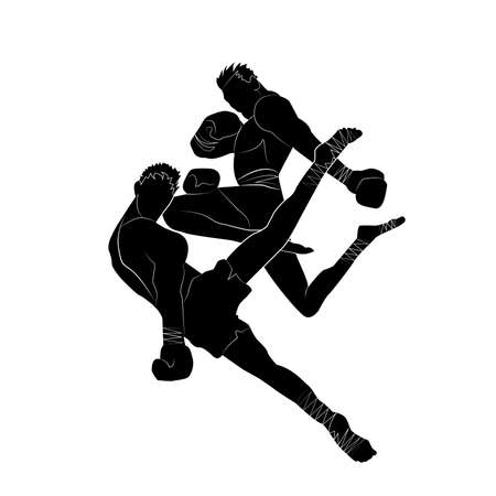Muay Thai, Thai Boxing, designed using grunge brush on splash blood background graphic.