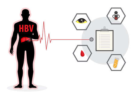 hepatitis a b c liver disease infographic Ilustrace