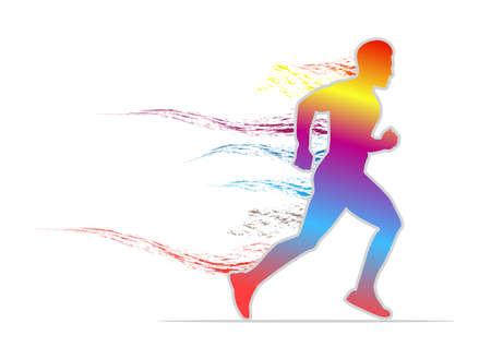 Colorful mens sprint running flat