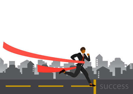 Businessman running . Dynamic business concept. Late for work. Successful man in a suit run for work.