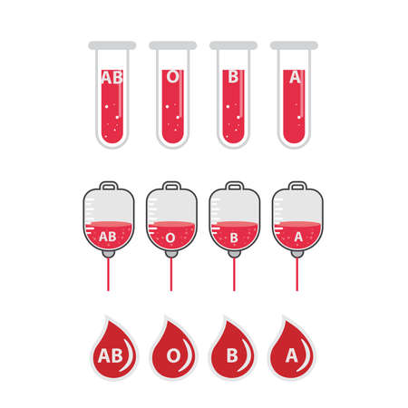 blood icon set medical icon illustration. Ilustrace
