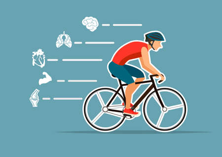 bike for health infographics.