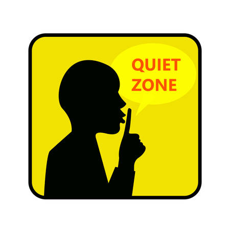 Quiet zone Sign. Vector Illustration Of A Keep Quiet Çizim