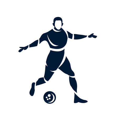 Football icon isolated on white background. modern symbol for graphic and web design. illustration Ilustrace