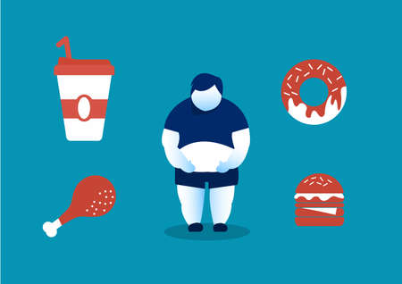 human eating junk food and the Dangers of Belly Fat