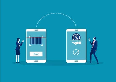 business online payment concept. Mobile transfers, Illustration of transfer payment,vector