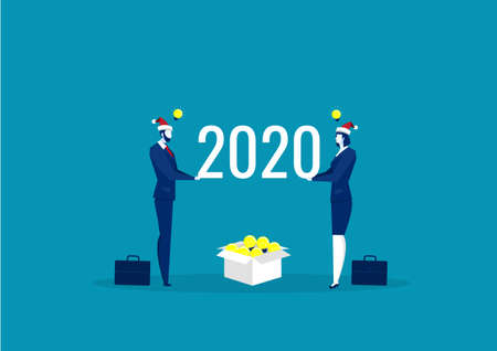 2020 idea  business for invest . happy new year  vector
