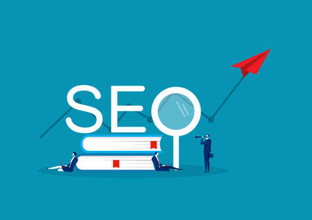 Team business select of keyword affects traffic. SEO weapons online marketing on SEO word. Archivio Fotografico - 136561190