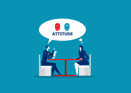 boss test atitude for job interview , Business people, candidate for a job. HR,office work. Recruitment manager. Vektorové ilustrace