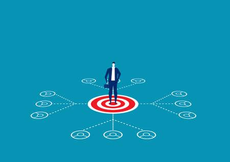 Leadership network or Multilevel Marketing Vector Illustration
