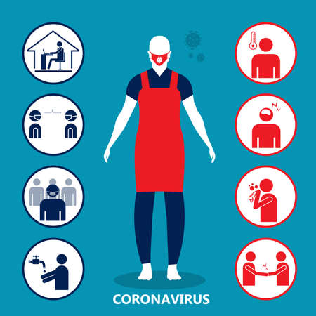 Corona Virus 2020. info graphic on white background Vettoriali