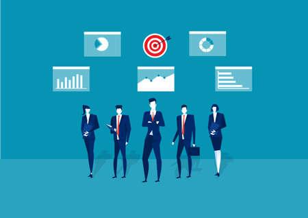 team business  market research, seo, business analysis, strategy, digital marketing, teamwork. Creative flat design