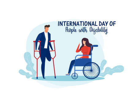 International day of people with disability illustration Stock Illustratie