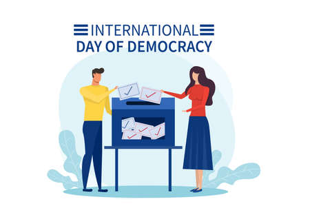 people vote on international day of democracy