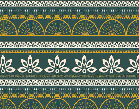 peacock geometric ethnic pattern. Seamless Design for background,carpet,wallpaper,clothing,fabric,Vector illustration.embroidery style.