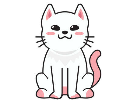 cute cat or kitten Animal meow, cartoon fluffy pets exact vector collection. Illustration cartoon meow cat Ilustrace
