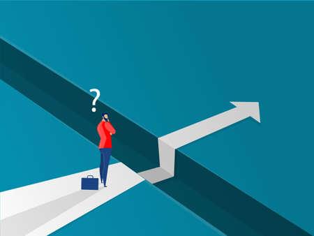 Businessman walking forward way to success vector