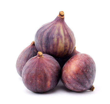 Several figs isolated on a white background Stock Photo