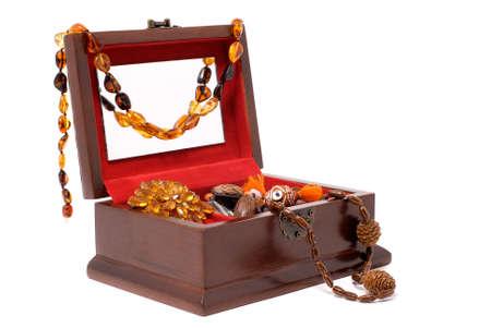 bijouterie in a casket
