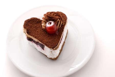 Hart gevormde cake Stockfoto - 8971337