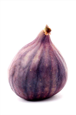 purple fig: One fig isolated on a white background