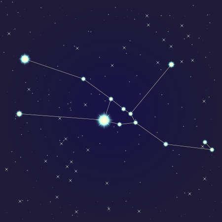 Taurus constellation Stock Illustratie