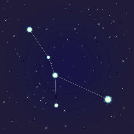 Cancer constellation Vector