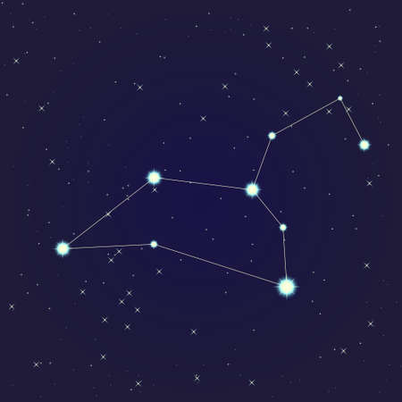 Cancer constellation Stock Vector - 13912150