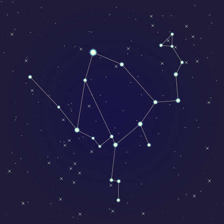 Ophiuchus constellation Vector