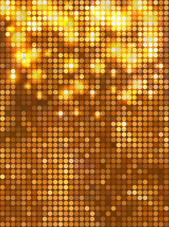 Vertical gold mosaic Vector