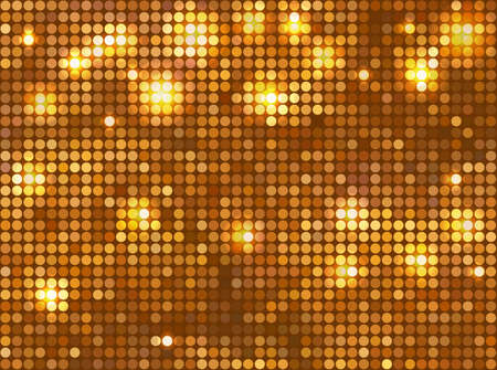 Horizontal gold mosaic Vector