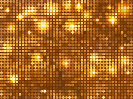 Mosaico de oro Horizontal Ilustración de vector
