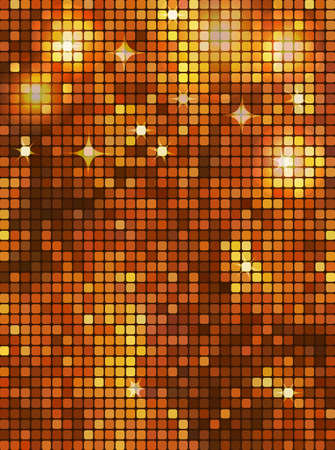 Gold rectangle mosaic Vector