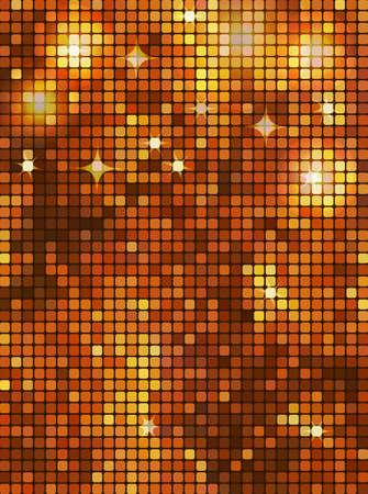 Gold rectangle mosaic