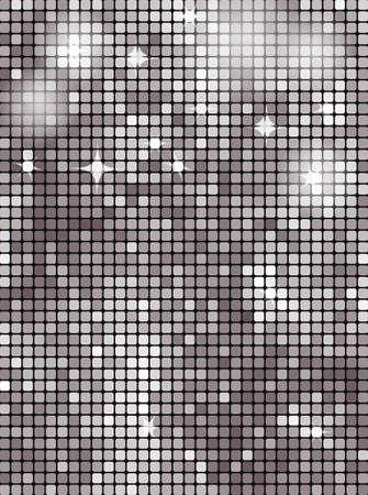 照らす: 銀の四角形のモザイク