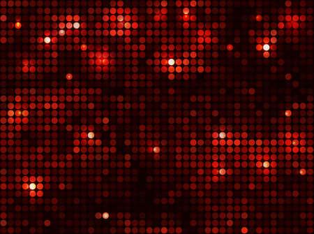 Horizontal black red   mosaic Stock Illustratie