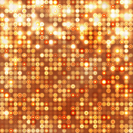Gold abstract sparkling background with circles Vector