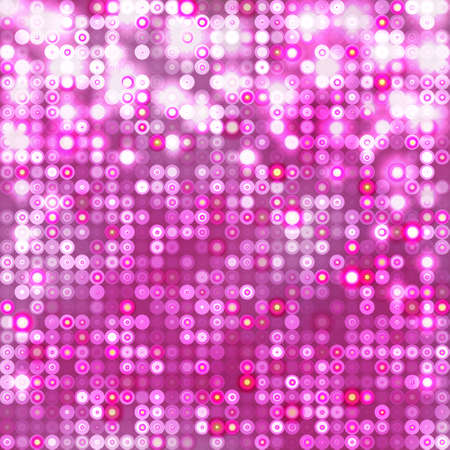 Pink abstract sparkling background with circles Illustration