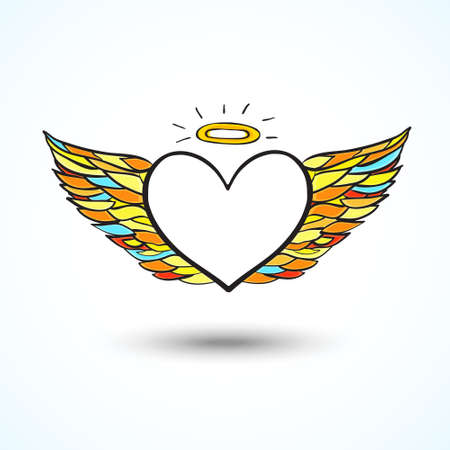 Angel heart background Vector